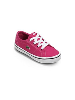 Lacoste - Little Girl's Canvas Lace-Up Sneakers/Pink