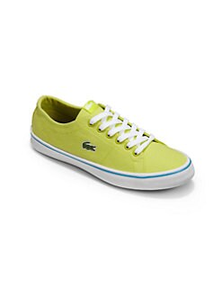 Lacoste - Kid's Canvas Lace-Up Sneakers/Green