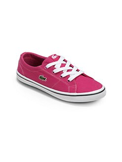 Lacoste - Girl's Canvas Lace-Up Sneakers/Pink