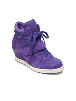 Ash - Girl's Babe Suede Wedge Sneakers
