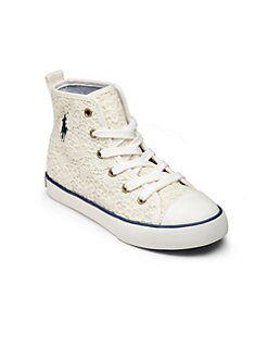 Ralph Lauren - Kid's Lace Harbour High-Top Sneakers