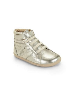 Old Soles - Infant's, Toddler's, & Child's Metallic Leather High-Top Sneakers