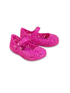 Mini Melissa - Infant's & Toddler Girl's Campana Zig Zag Mary Jane Flats