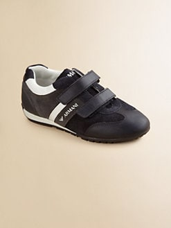 Armani Junior - Boy's Suede Grip-Tape Sneakers