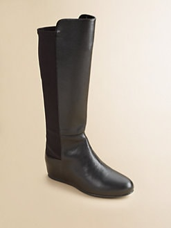Stuart Weitzman - Girl's 50/50 Faux Leather Boots