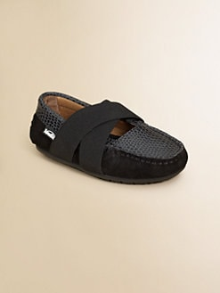 Venettini - Girl's Criss-Cross Mary Jane Loafers
