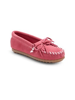 Minnetonka - Toddler's & Girl's Kilty Suede Moccasins