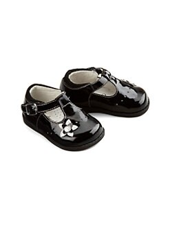 Footmates - Infant's & Toddler's Kaylie Patent T-Strap Flats