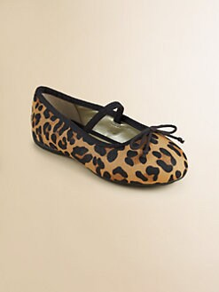 Ralph Lauren - Toddler's & Little Girl's Allie Leopard Haircalf Ballet Flats