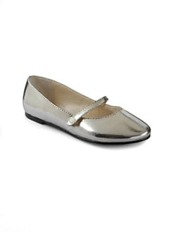 Ralph Lauren - Infant's, Toddler's & Girl's Alyssa Metallic Mary Jane Flats