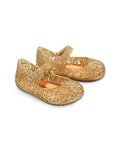 Mini Melissa - Infant's & Toddler's Campana Zigzag Glitter Mary Jane Flats