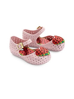 Mini Melissa - Infant's & Toddler's Furadinha Watermelon Mary Jane Flats