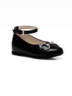 Gucci - Infant's & Toddler Girl's Charlotte Patent Leather Ballet Flats
