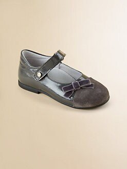 Naturino - Infant's & Toddler's Patent Leather and Suede Mary Janes
