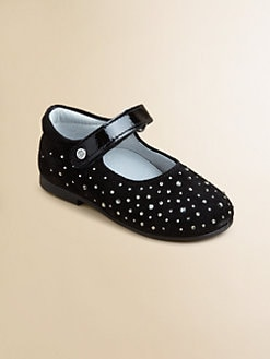 Naturino - Infant's & Toddler's Swarovski Leather Mary Janes