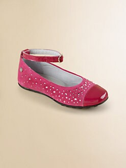 Naturino - Girl's Embellished Suede Ballerina Flats