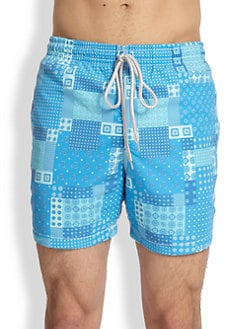 Saks Fifth Avenue Collection - Patchwork Swim Shorts