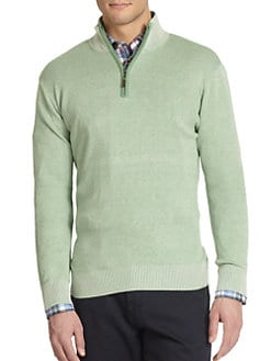 Saks Fifth Avenue Collection - Quarter-Zip Birdseye Sweater