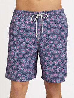 Saks Fifth Avenue Men's Collection - Circle Print Swim Trunks