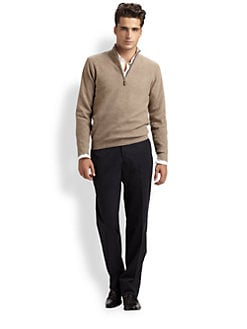 Saks Fifth Avenue Men's Collection - Half-Zip Cashmere Sweater