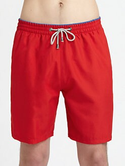 Saks Fifth Avenue Men's Collection - Solid Swim Trunks