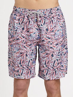 Saks Fifth Avenue Men's Collection - Paisley-Print Swim Trunks