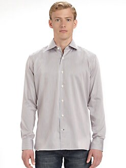 Saks Fifth Avenue Men's Collection - Bengal Stripe Cotton Sportshirt