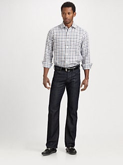 Saks Fifth Avenue Men's Collection - Windowpane Linen Sportshirt