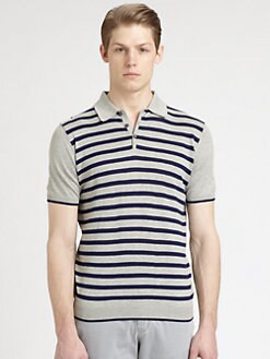 Saks Fifth Avenue Men's Collection - Striped Polo
