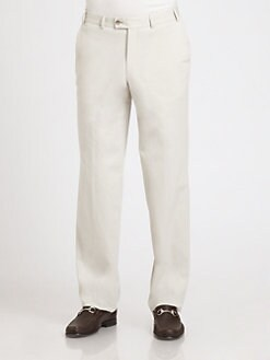 Saks Fifth Avenue Men's Collection - Stretch Cotton-Blend Straight-Leg Pants