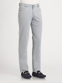 Saks Fifth Avenue Men's Collection - Five-Pocket Sea Cell Trousers