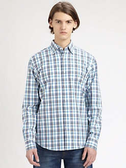 Saks Fifth Avenue Men's Collection - Plaid Cotton Sportshirt