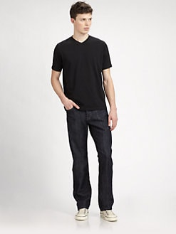Saks Fifth Avenue Men's Collection - Jersey V-Neck Tee