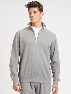 Saks Fifth Avenue Men's Collection - Half-Zip Cotton Pullover