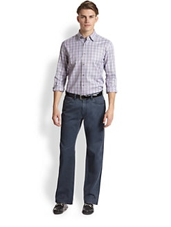 Saks Fifth Avenue Men's Collection - Houndstooth Plaid Sportshirt