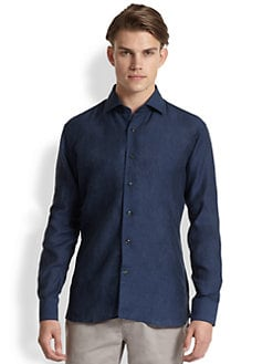Saks Fifth Avenue Men's Collection - Solid Linen Sportshirt