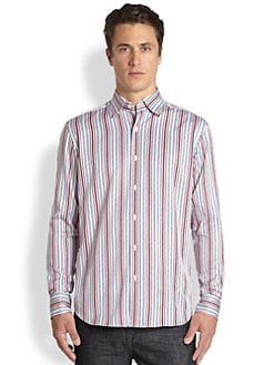 Saks Fifth Avenue Men's Collection - Striped Cotton Sportshirt