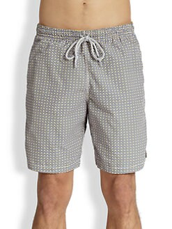 Saks Fifth Avenue Collection - Dotted Swim Trunks