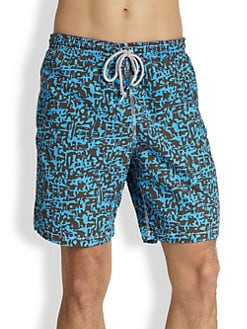 Saks Fifth Avenue Collection - Abstract Camo Swim Trunks