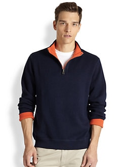 Saks Fifth Avenue Collection - Reversible Quarter-Zip Sweater