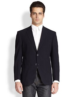 Saks Fifth Avenue Men's Collection - Solid Wool Seersucker Blazer