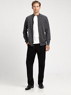 Saks Fifth Avenue Men's Collection - Marled Hidden Zip Jacket
