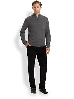 Saks Fifth Avenue Men's Collection - Sporty Half-Zip Sweater