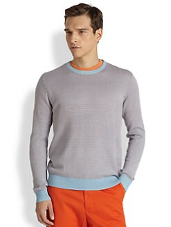 Saks Fifth Avenue Collection - Silk/Cashmere Jacquard Sweater