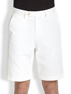 Saks Fifth Avenue Men's Collection - Flat-Front Cotton Modal Shorts