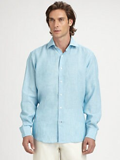 Saks Fifth Avenue Men's Collection - Air Washed Linen Sportshirt