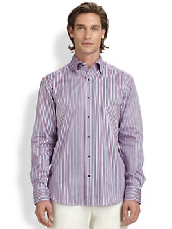 Saks Fifth Avenue Men's Collection - Sateen Bengal Stripe Shirt
