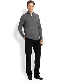 Saks Fifth Avenue Men's Collection - Quarter-Zip Mockneck Sweater