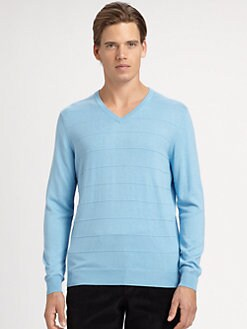 Saks Fifth Avenue Men's Collection - Ribbed V-Neck Sweater