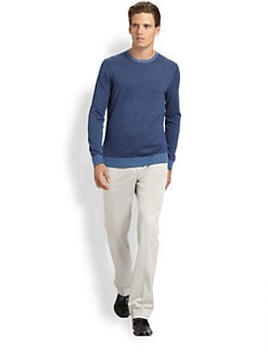 Saks Fifth Avenue Men's Collection - Micro Stripe Crewneck Sweater